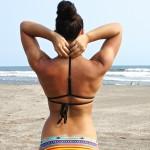 Look maillot: surfer avec June