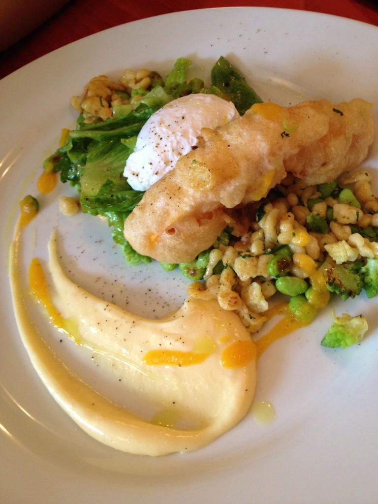 Spätzles salade déjeuner brunch La Récolte