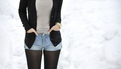 3 ways to wear your shorts in winter