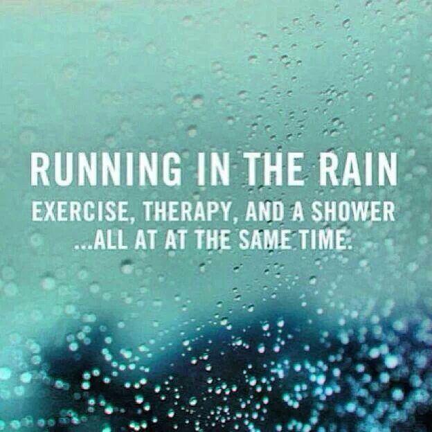running in the rain