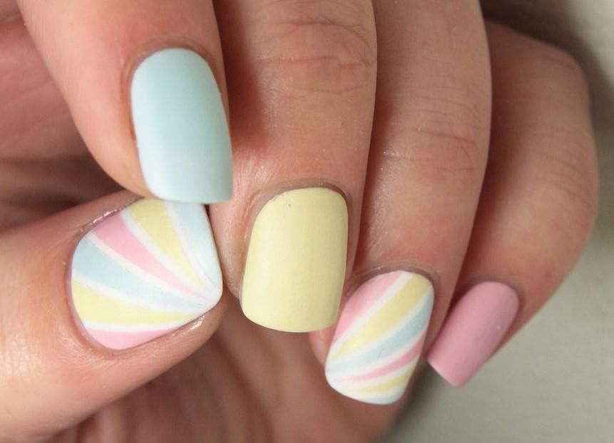 decoration ongles pastel