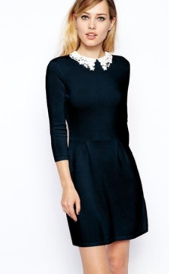 2014-09-08 15_48_38-ASOS _ ASOS Knitted Skater Dress With Lace Collar at ASOS - Internet Explorer