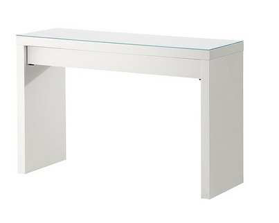 Meuble maquillage ikea table de lit for Commode miroir ikea