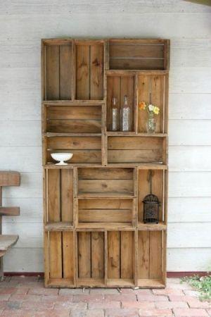 des caisses de bois dans notre d cor c est oui le cahier. Black Bedroom Furniture Sets. Home Design Ideas