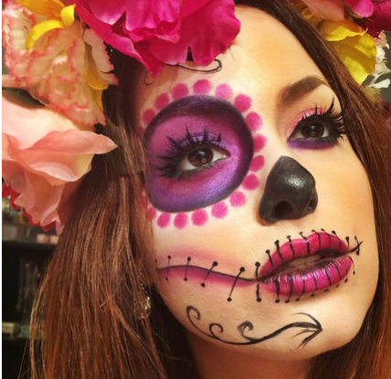 maquillage squelette mexicain tuto
