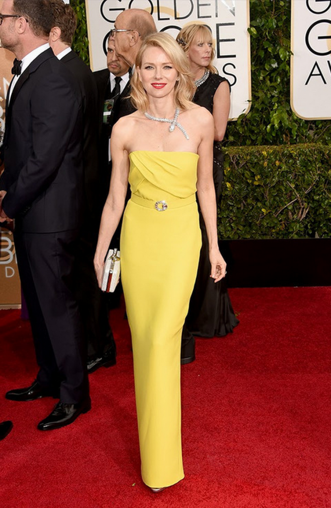 golden globes, tapis rouge, best outfit, worst outfit, vedette, star, chic, glam, naomi watts