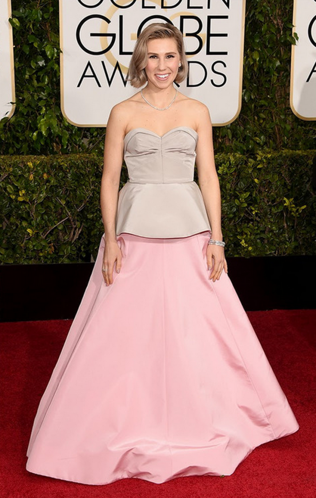 zosia mammet, girls, golden globes, tapis rouge, best outfit, worst outfit, vedette, star, chic, glam