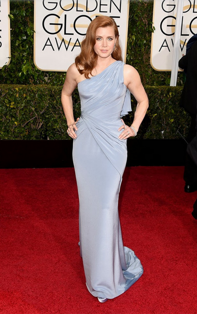Amy adams, golden globes, tapis rouge, best outfit, worst outfit, vedette, star, chic, glam