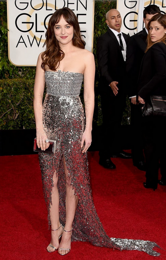 golden globes, tapis rouge, best outfit, worst outfit, vedette, star, chic, glam, dakota johnson