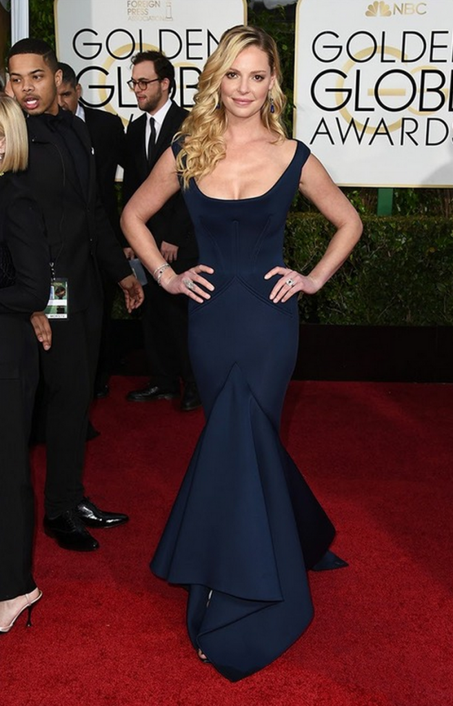 katherine heigl, golden globes, tapis rouge, best outfit, worst outfit, vedette, star, chic, glam