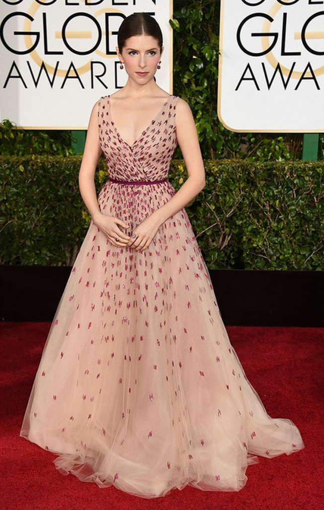 golden globes, tapis rouge, best outfit, worst outfit, vedette, star, chic, glam, anna kendrick
