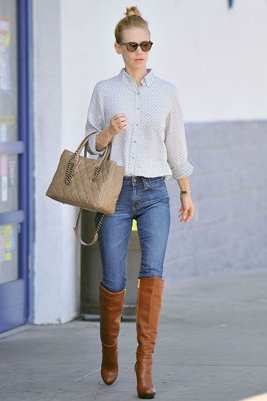 The Cheaper Version January Jones Rider Outfit