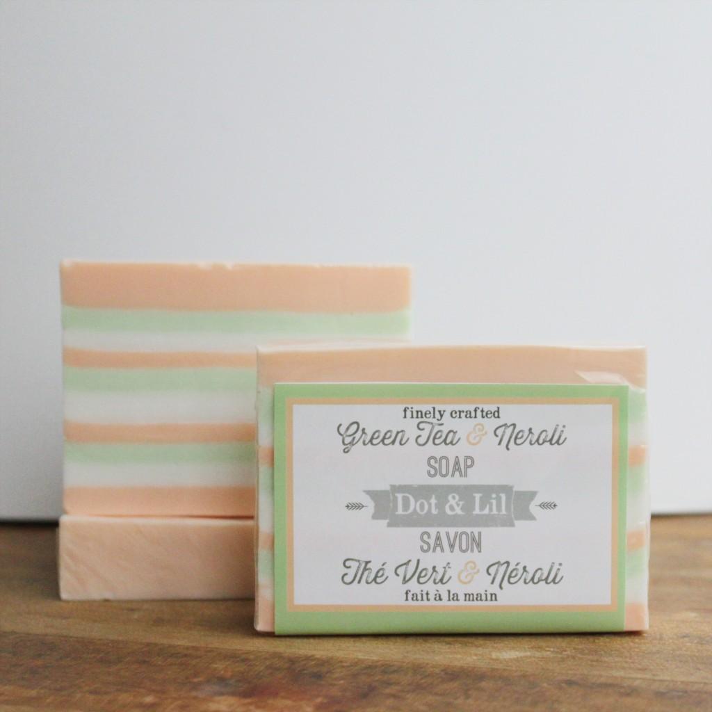 green tea neroli soap 2