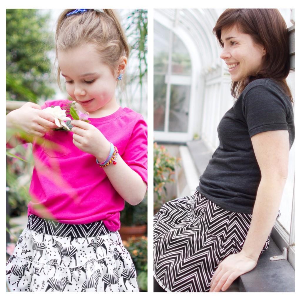 Alice et Simone, vêtement, enfants-mères, mix, ensembles