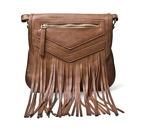 Steve Madden, sacoche, sac à main, franges, brun