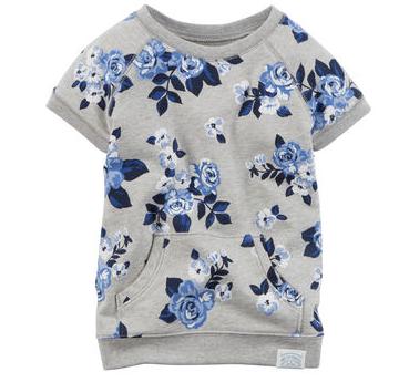 chandail carters, vêtement, enfant, fleurs