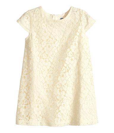 H&M, vêtement, enfant, robe, dentelle