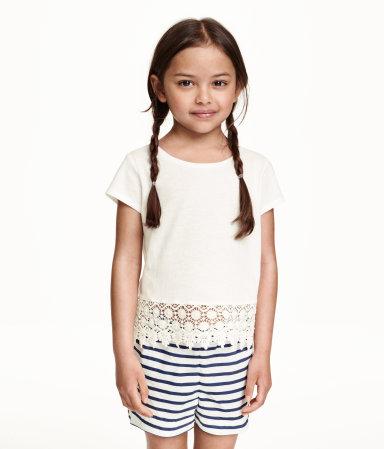 H&M, vêtement, enfant, short, chandail