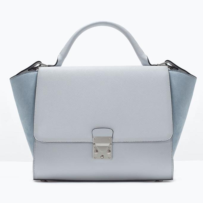 zara, sac à main, sacoche, top 5, été, bleu, deux tons, sac