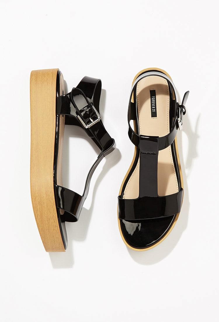 forever21, sandales, noire, soulier, chaussure, été