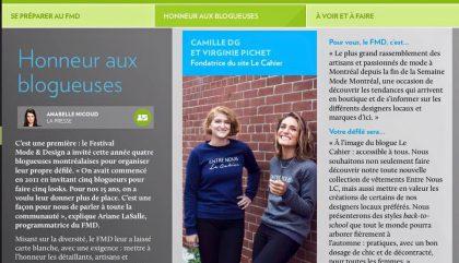 Défilé Le Cahier au FMD : Un rdv à ne pas manquer!