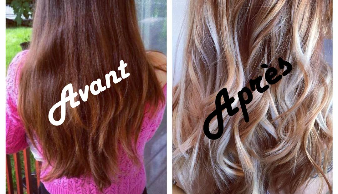 Coloration des cheveux balayazh avant et aprГЁs