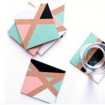 #DIY: sous-verres géométriques