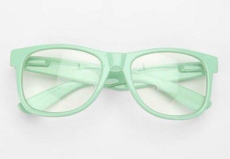 lunettes, menthe, couleur, eyewear, problèmes, soins des yeux
