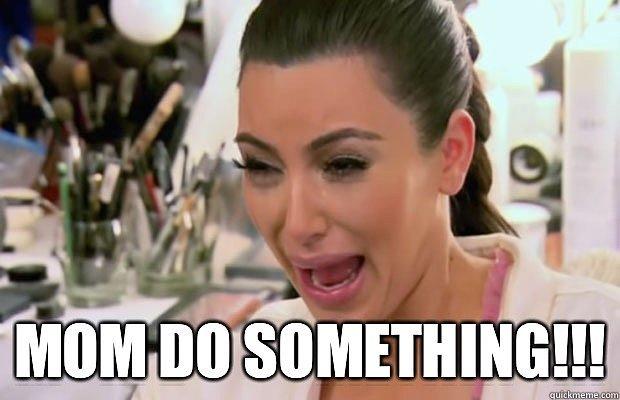 kim k, kardashian, pleurer, maquillage, problèmes