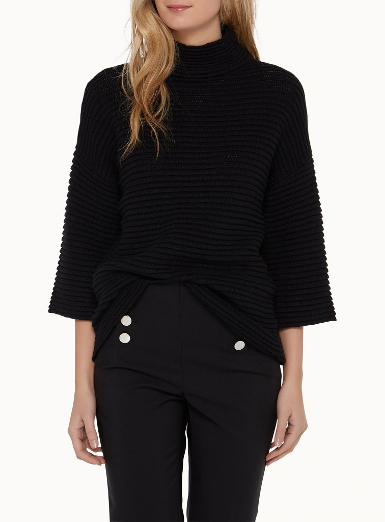 tricot, noir, simons, automne, confortable, texture,
