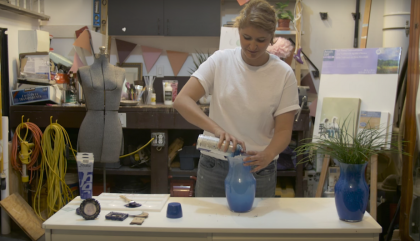 DIY de la semaine: le bleu royal