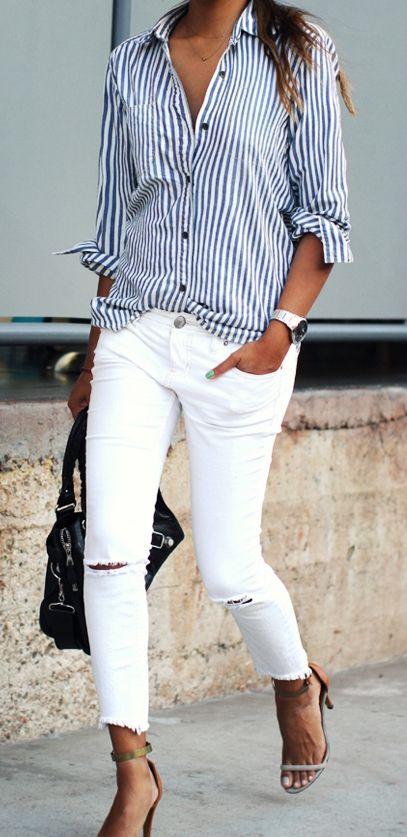 9. Jeans blanc source prettydesigns.com