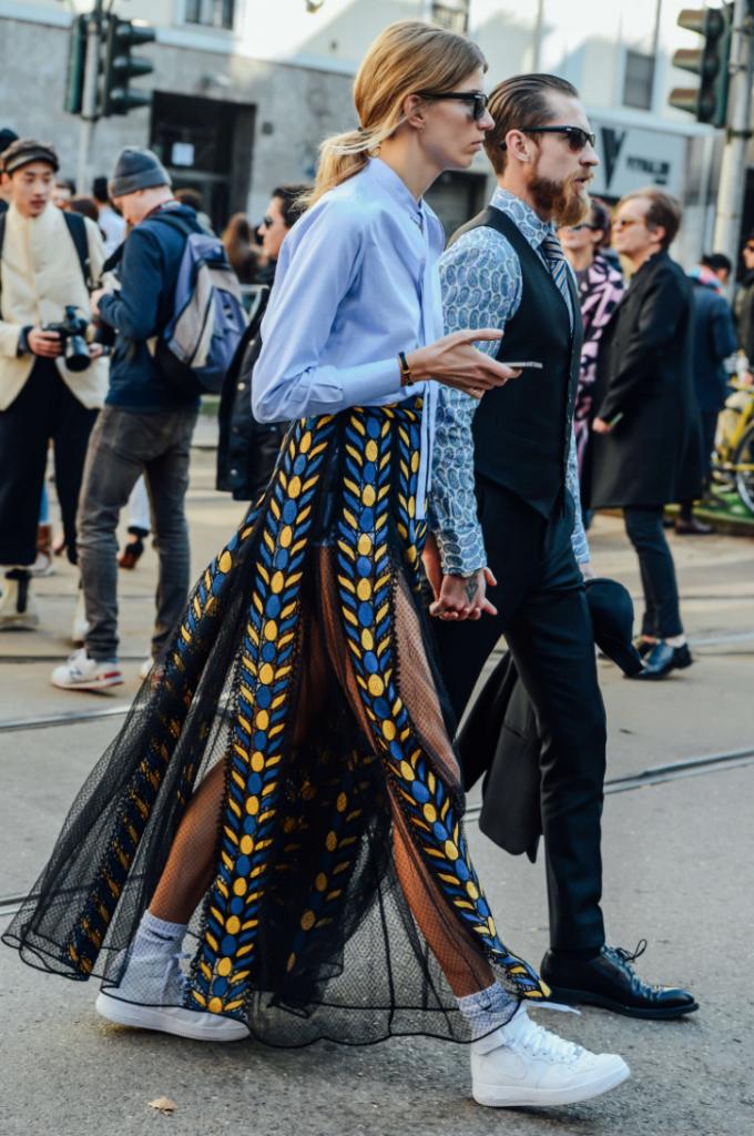 Veronika Heilbrunner, chemise, streetstyle, Justin O'Shea , tendance, mode