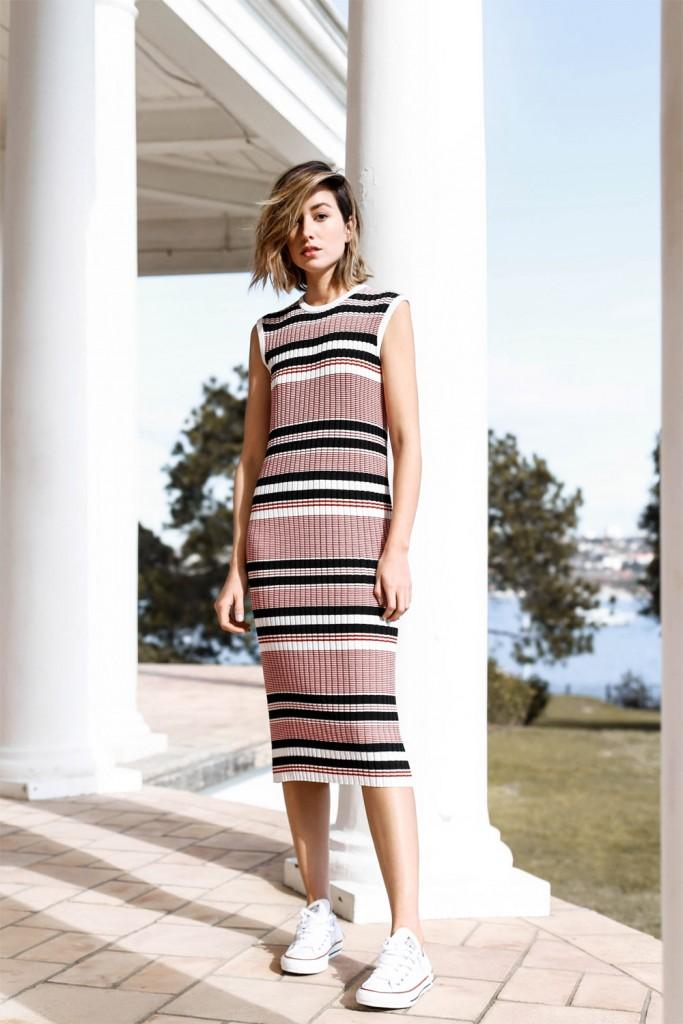 Carmen Hamilton, robe, minimaliste, lignes, décontracté, cosy