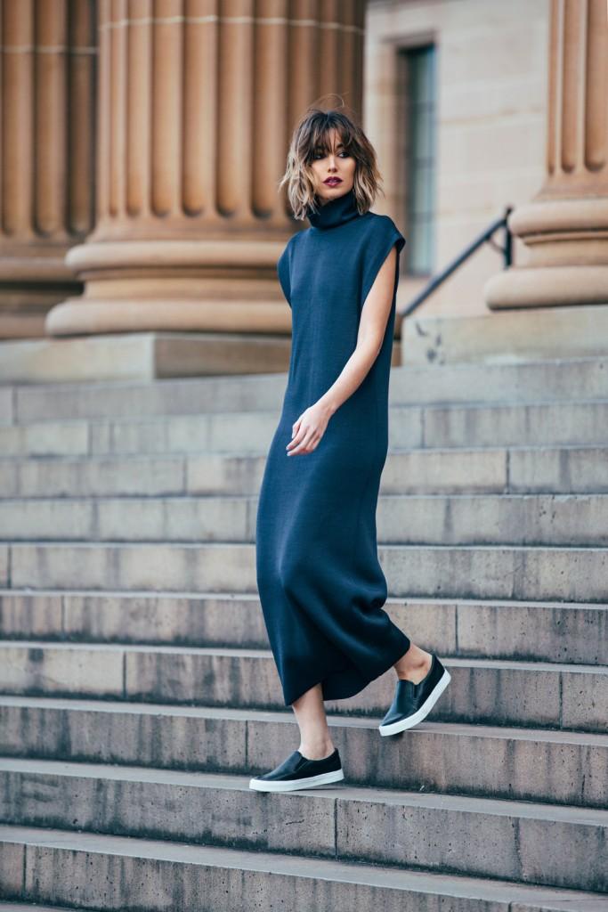 Carmen Hamilton, robe, noire, minimaliste, monochrome, the chronicles of her