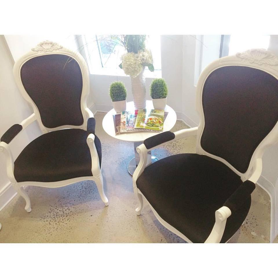 Dermalounge, Laurier, chaises, Roccoco, style, soins, détente, peau
