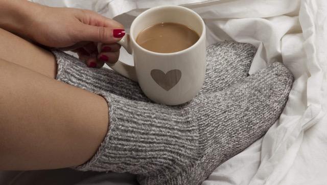 Douceurs, automne, bas, laine, café, réconfort, confortable