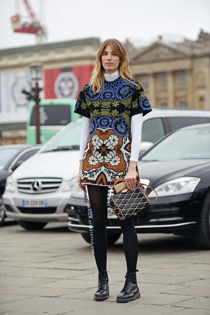 Veronika Heilbrunner, blog, édtrice, streetstyle, pattern, dress, mode, tendance