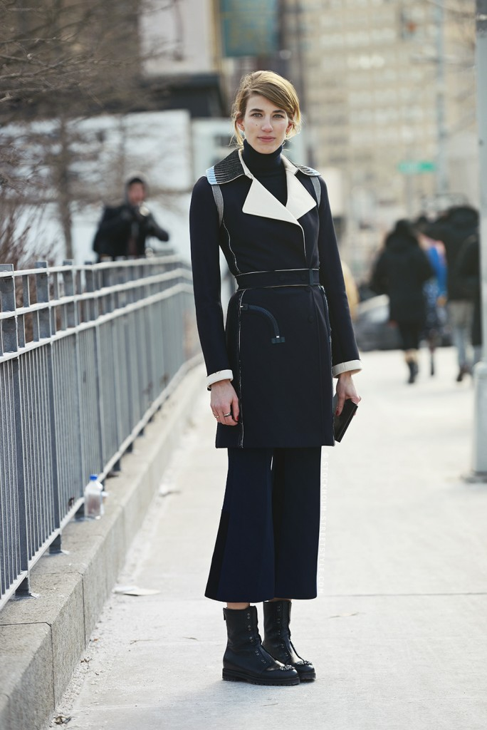 Veronika Heilbrunner, mode, tendance, streetstyle, noir, éditrice, manteau