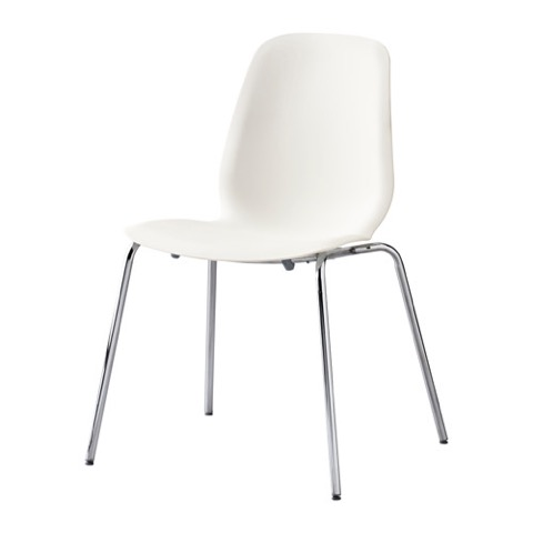 chaise, ikea, décoration, épuré, blanc