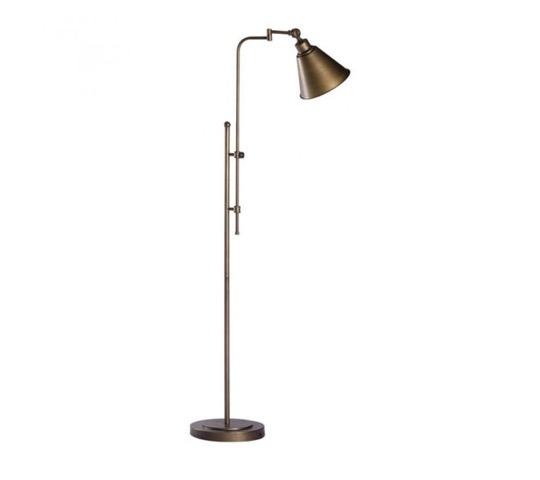 grande, lampe, vintage, métallique, éclairage, ambiance
