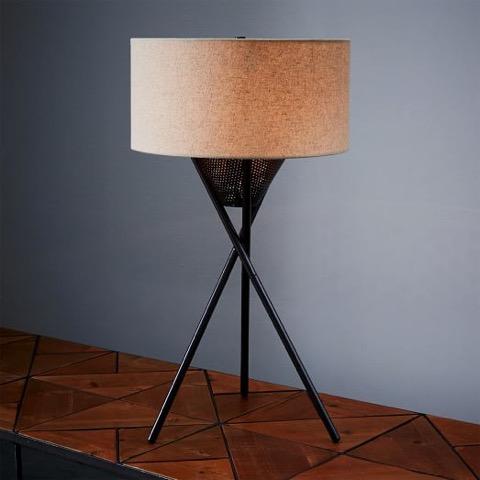 west elm, lampe, chevet, éclairage, ambiance