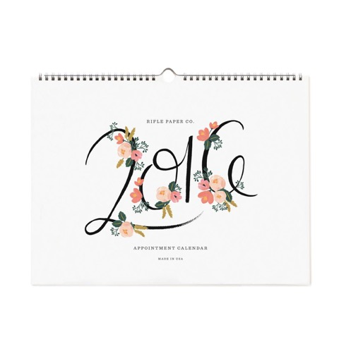 calendrier, 2016, rifleandco, papeterie, planification, dates