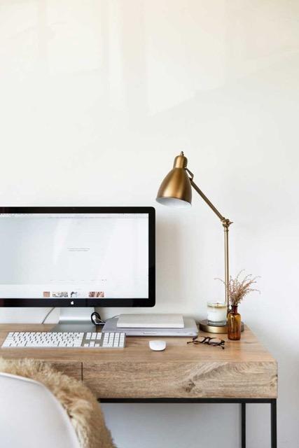 bureau, bois, lampes, textures, ordinateur, mac, travail, bureau