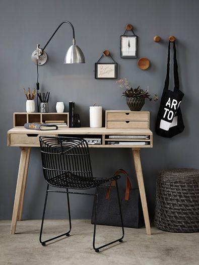 bureau, masculin, décor, chaud, bois, inspiration, bureau