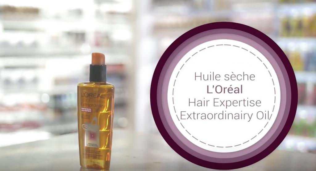 huile sèche, l'Oréal, capsule, jean-coutu, pharmacie, coiffure, tutoriel, lecahier, MAtv