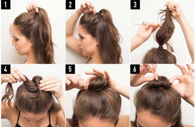 tutoriel, top bun, half bun, coiffure, tendance, mode, cheveux