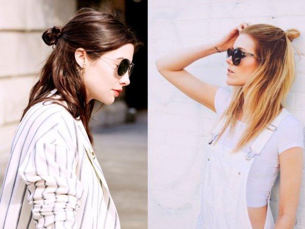 half bun, coiffure, mode, tendance, haistyle, Kate Mara, Sienna Miller