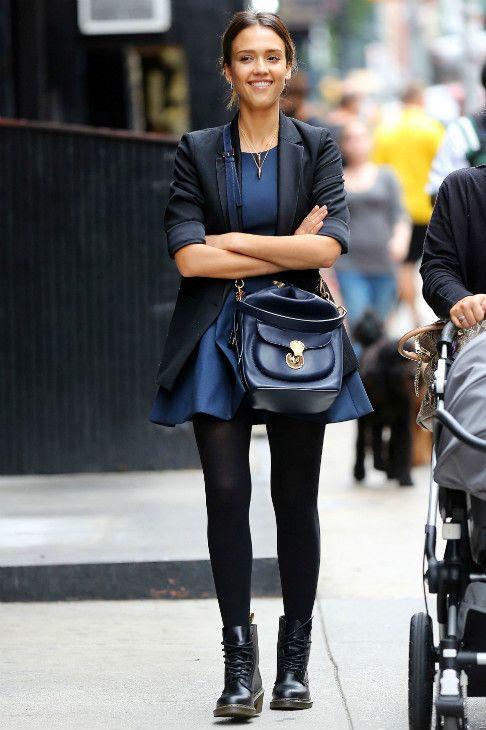 Jessica Alba, robe, été, layering, tendance, mode