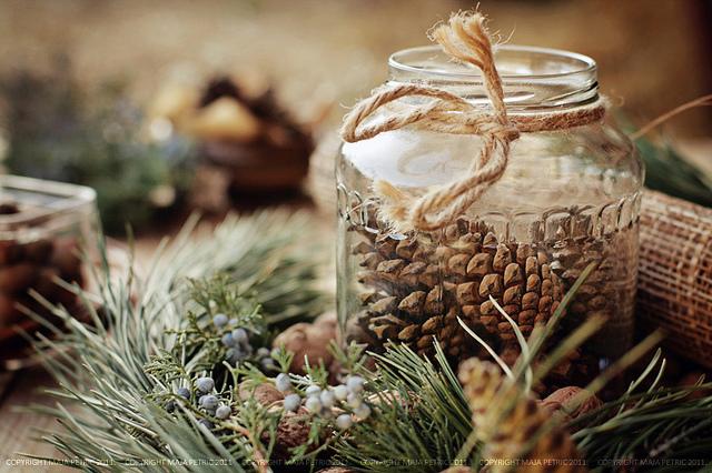 table, nappe, décoration, fêtes, Noël, sapin, réveillon